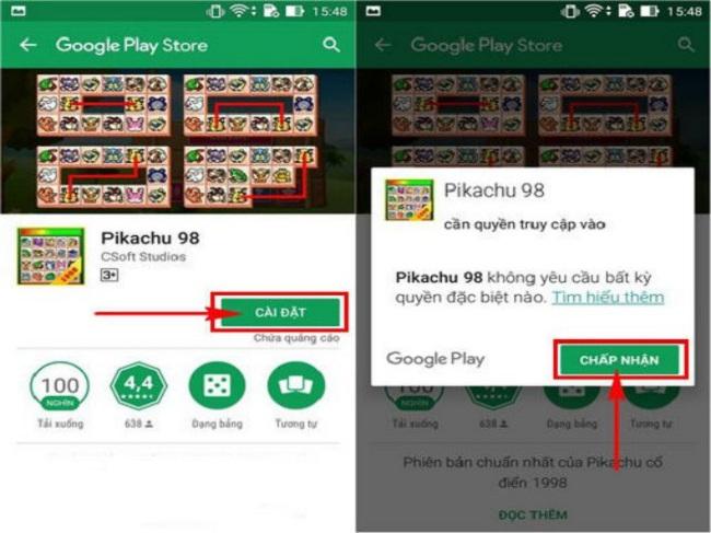 Cách tải game Pikachu mới nhất trên điện thoại Android