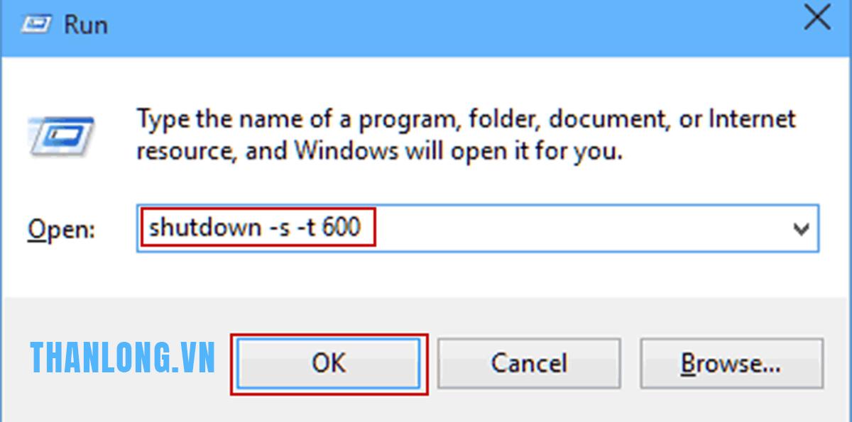 Cách dùng Auto Shutdown không cần phần mềm