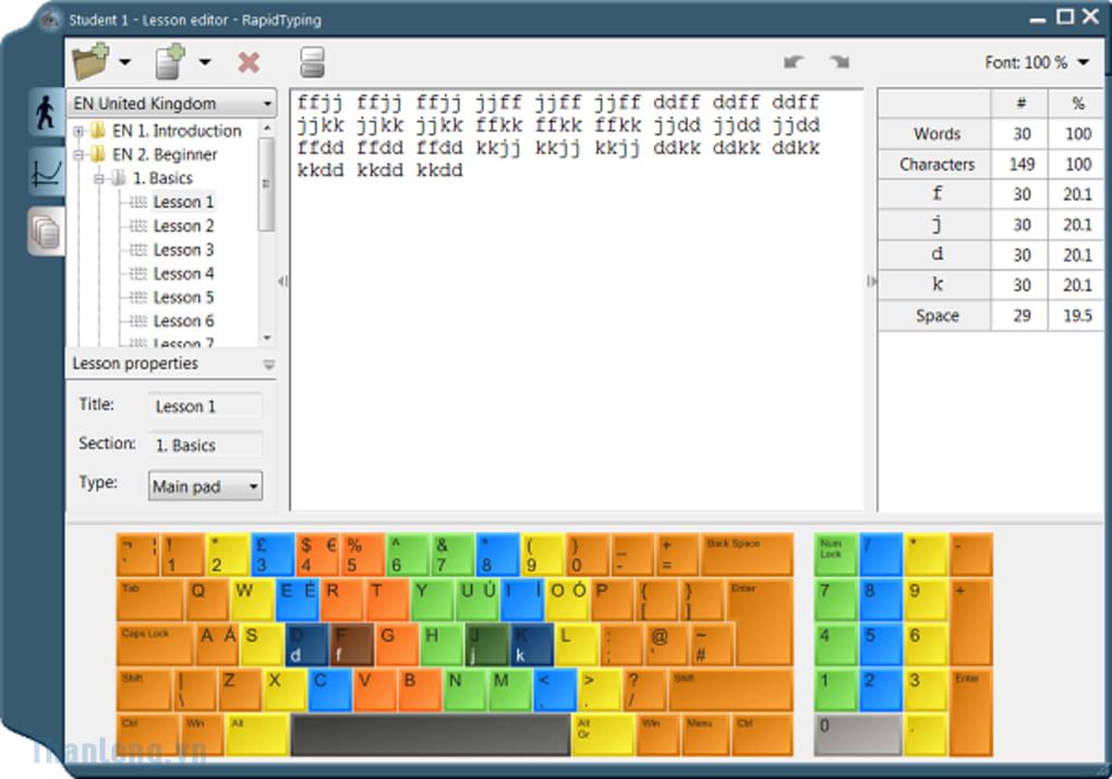 Tải phần mềm rapid typing